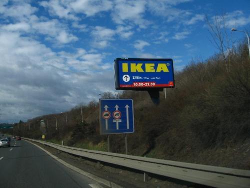 Ikea billboard Praha 5,1x2,4 m