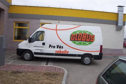 Polepy vozÖ Transit GLOBUS (Medium)