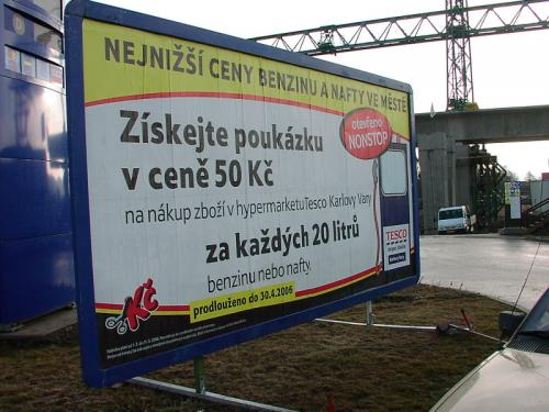 Tesco mobiln° billboard 510 x 240 Karlovy Vary