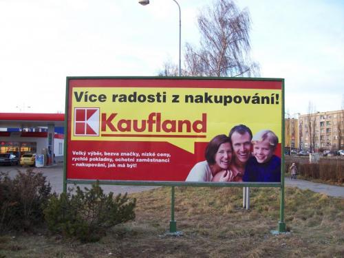 billboard Kaufland Karvin†
